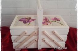 Niciarka - pudełko na nici - storczyki