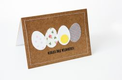 Cztery jajka kartka wielkanocna
