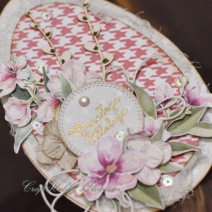 Wielkanocna pisanka z baziami I - Pisanka - detal III