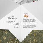 Kartka świąteczna w kształcie choinki BNR 012 - Kartka na boże narodzenie nietypowa w kształcie choinki  z kokardą (4)