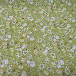 Kwadratowy obrus 85x85 cm zielony - Wielkanoc -