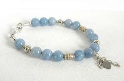 BLUE SKY - bransoletka z kamieni jadeitu
