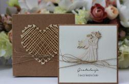 Stylowa kartka ślubna 6