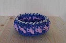 Koszyk Trzy kolory - różowy