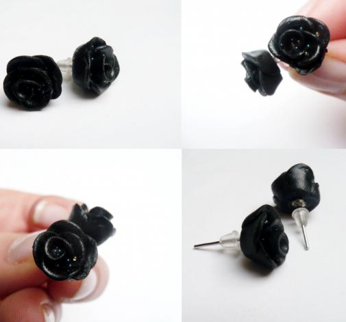 Kolczyki - duże różyczki