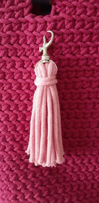 Torebka ze sznurka bawełnianego shopperka - Chwost pasujący kolorystycznie