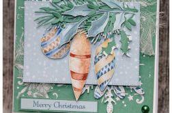 Kartka świąteczna z bombkami