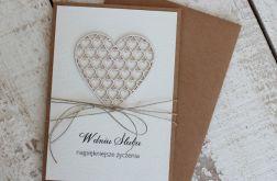 Oryginalna rustykalna kartka ślubna z kopertą