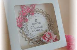 Kartka z okazji rocznicy ślubu w pudełku