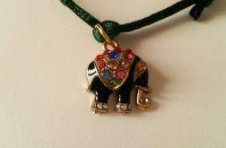 Bransoletka sznurkowa ze słoniem