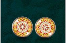 Kolczyki - Mandala radości - powiew orientu - kolczyki wkrętki