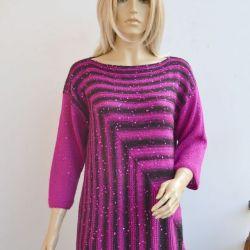 FUKSJA I CZERŃ - sweterek