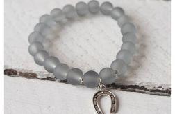 Grey Frozen Beads