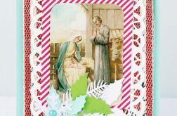 Kartka świąteczna na Boże Narodzenie Mint