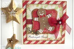 Kartka świąteczna z piernikowym ludkiem 4