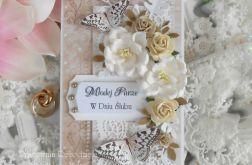 Ślubna kartka w pudełku DL 07