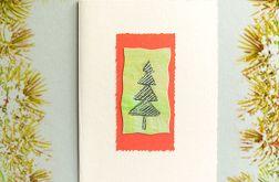 Kartka  świąteczna minimalizm nr 36