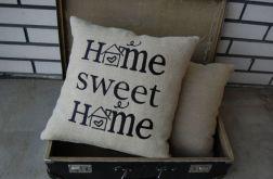 "Poszewki ""Home sweet home"" - haftowane"