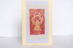 Kartka świąteczna złoty aniołek