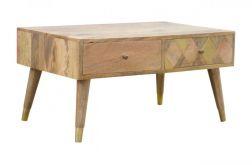 stolik kawowy ława z szufladami drewno