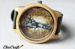Drewniany zegarek militarny