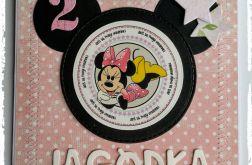 Kartka urodzinowa/zaproszenie - Myszka Minnie