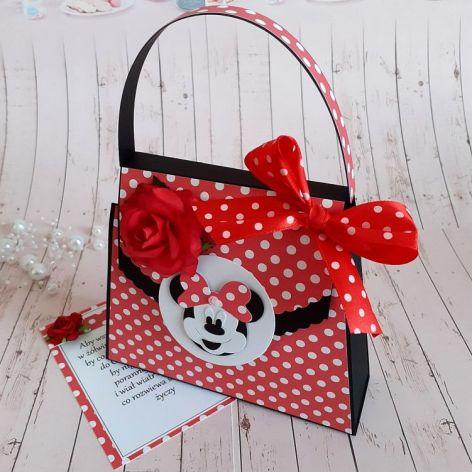 Kartka - torebka na urodziny Myszka Miki
