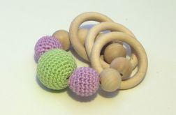 Ekologiczny gryzak - drewno i bawełna