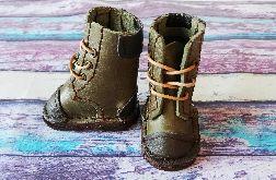 Skórzane buty dla lalki 6 cm