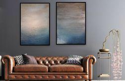 Obraz x2 ręcznie malowany płótno 50cm x 70cm