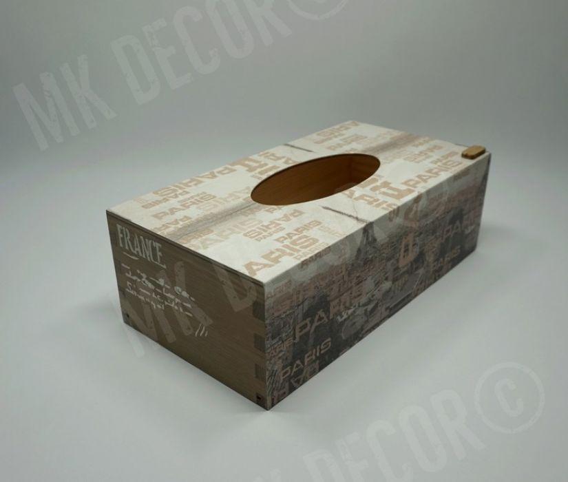 Pudełko prostokątne na chusteczki PARIS - pudełko z frontu 2