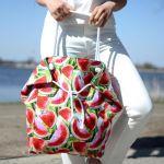 duża torba damska w arbuzy - duża torba