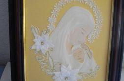 Maryja z dzieciątkiem - obrazek religijny - I