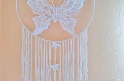 Łapacz snów handmade motyl średnica 60 cm