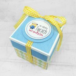 Box z minionkiem niebieski UDP 025