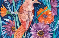 Autumn Bird wydruk ilustracji