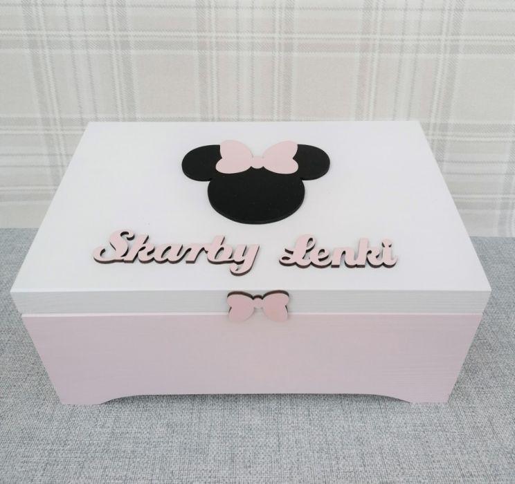 Pudełko na skarby XXL - Myszka Minnie - szkatułka na drobiazgi