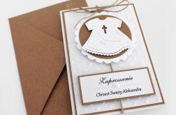 Zaproszenie na chrzest - szatka eco craft