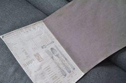 Prostokątny bieżnik - sztućce i menu 40 x 137 cm