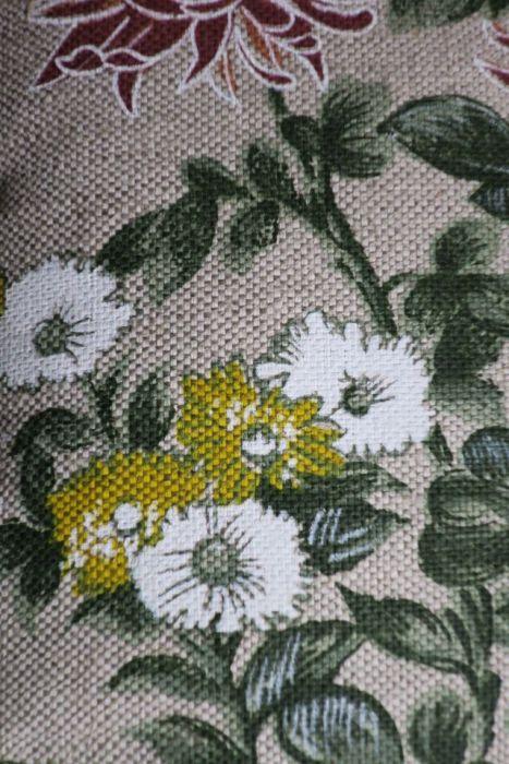 Poszewka na poduszkę LETNI OGRÓD 40 cm x 40 cm  - Poszewka lniano- bawełniana
