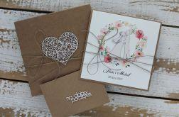 Kartka ślubna z pudełkiem i kopertą
