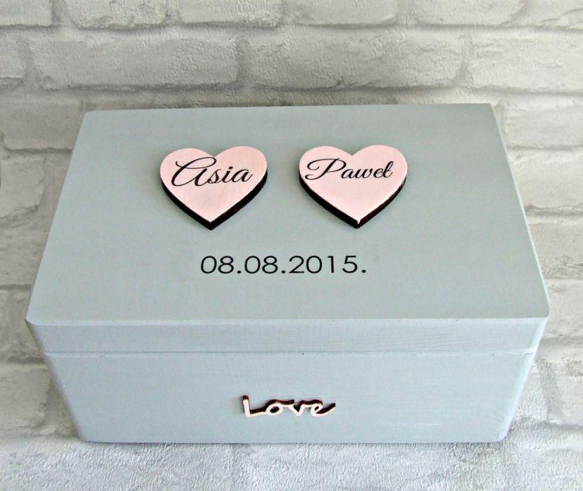 "Ślubne pudełko na koperty ""Cold Romantic"""