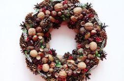 Wianek jesienny na drzwi naturalny 30 cm
