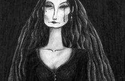 Czarna - oryginalny rysunek 0305