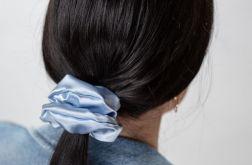 Scrunchie satyna błękit