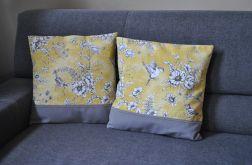 Dwie poszewki - żółte ptaszki