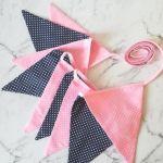Girlanda z bawełny różowo-granatowa