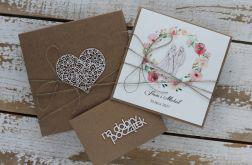 Kartka ślubna z personalizacją z pudełkiem