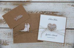 Oryginalna kartka ślubna i pudełko 5