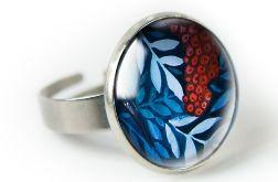 Jarzębina pierścionek z ilustracją